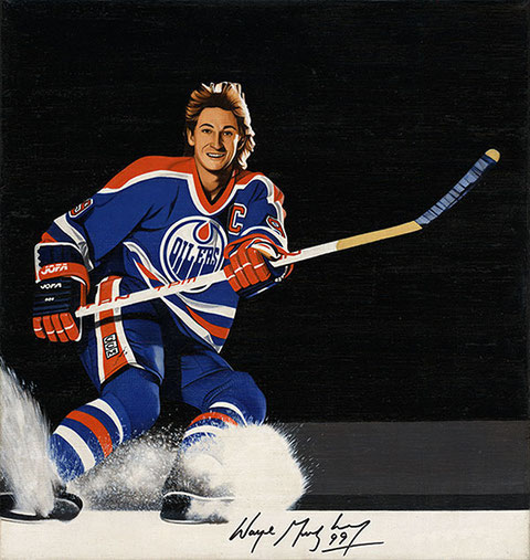 Wayne Gretzky by Joachim Thiess, the hockey collection