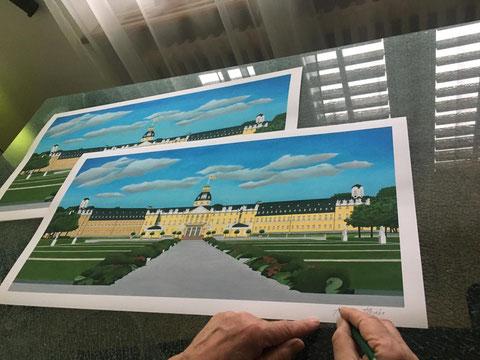 Karlsruher Schloss, Original by Joachim Thiess