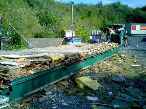 Juli 2008 Abriss und Entsorgung des alten Clubheims