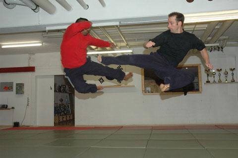 Hapkido Show in der Luft