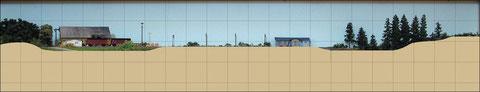 Höhenprofil der Anlage mit Raster
