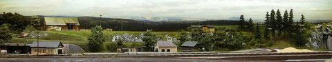 Panorama der Anlage mit Hingrundkulisse