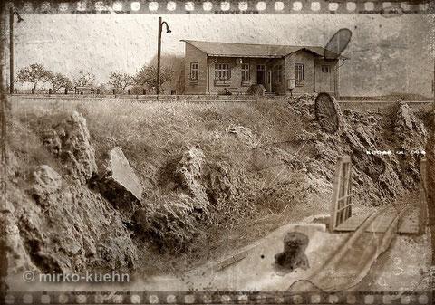 """privat: Blick auf den kleinen Bahnhof """"Alt Lanckenau"""""""