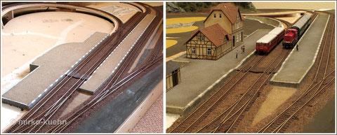 Bahnsteig Vergleich vorher - nachher