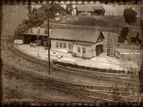 Dachbodenfund: Tischlerei Lanckenau von der Gleisseite