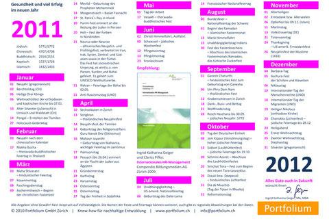 Festkalender 2011