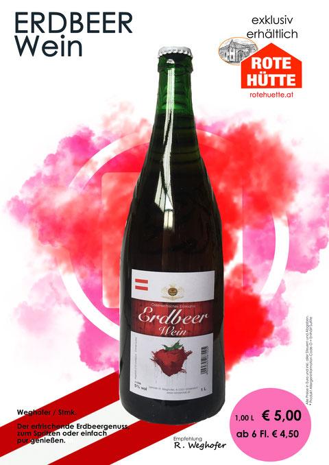 Erdbeerwein, Rote Hütte, Weghofer, Vösendorf