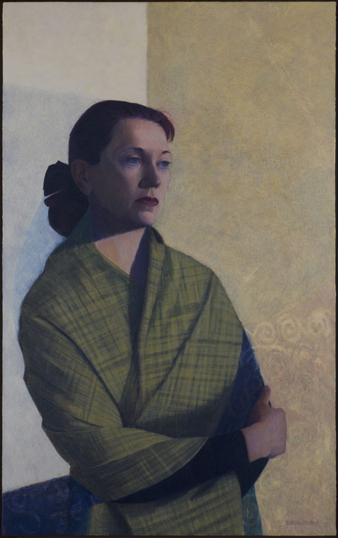 francois beaudry egg tempera painting portrait helene 9