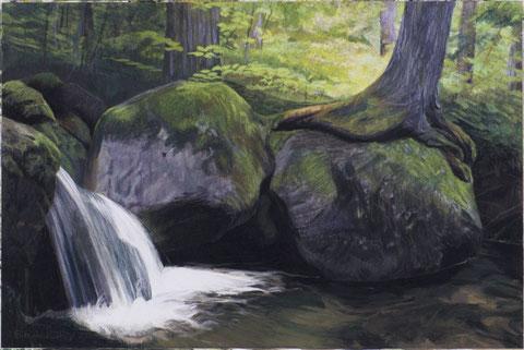 francois beaudry pastel et aquarelle peinture tableau paysage serre série via appalachia 7