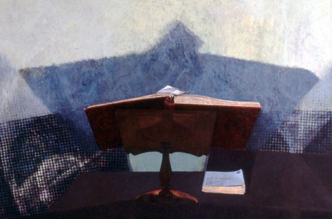francois beaudry tempera peinture tableau série chercheur de trésors 6