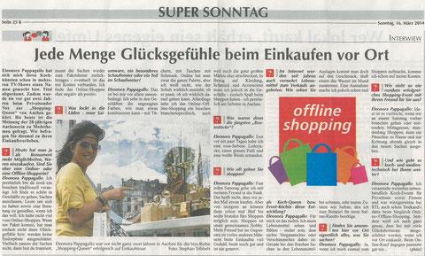 """Quelle: Artikel aus """"Super Sonntag"""""""