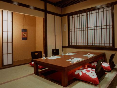 個室宴席 七福の間,日光,炭火会席,小槌の宿 鶴亀大吉,縁起づくしの宿
