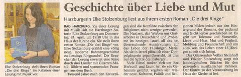 Goslarsche Zeitung, 13.04.12, Seite 17, Foto: Ina Seltmann
