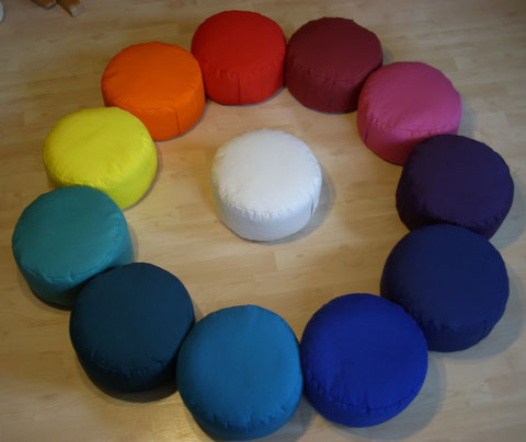 """Meditationskissen """"KLASSIK""""-in insgesamt 19 wunderschönen Farben!"""