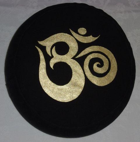 Meditationskissen OM-hier in Schwarz