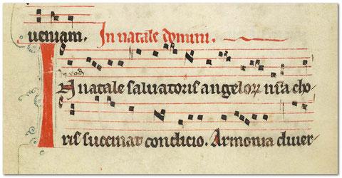 BnF, ms Lat 14819, f°39v, Graduel parisien, XIIIe s.
