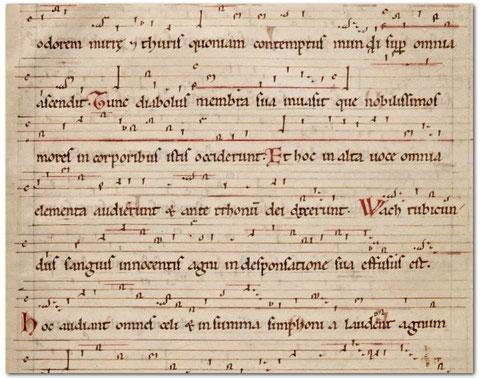 Hildegard de Bingen, O ecclesia, extrait, ms de Dendermonde, f°169