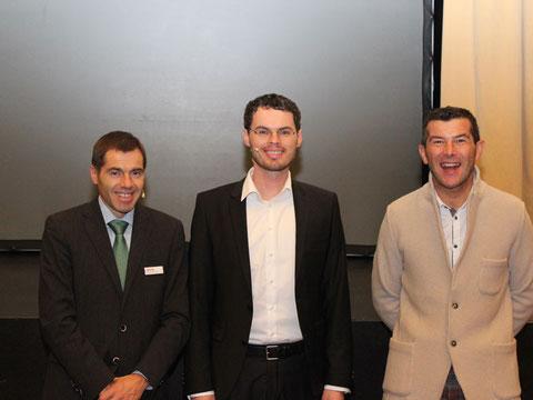 Dr. Thomas Aichner (Marketinggesellschaft Meran), Alexander Fritsch, Dietmar Erlacher (Hotel Valserhof)