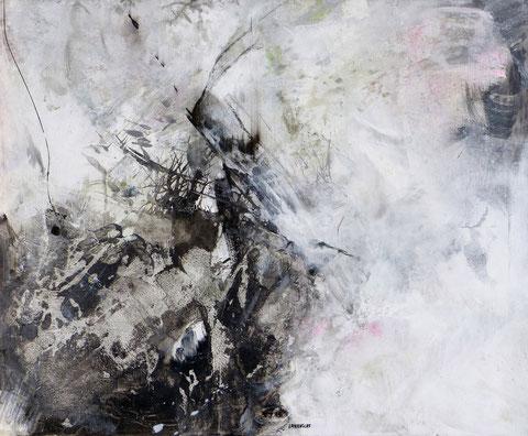 Forêt noire. Acrylique sur toile Dim 80cmx100cm