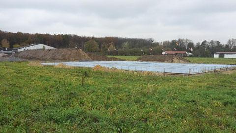 Tag 41 - Fundamente, Bodenplatte + Industrieboden = fertig ...