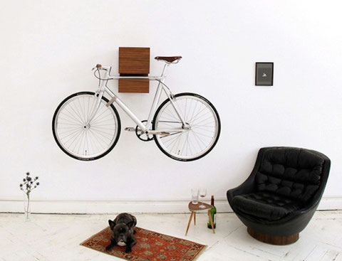 Minimalist bike rack.