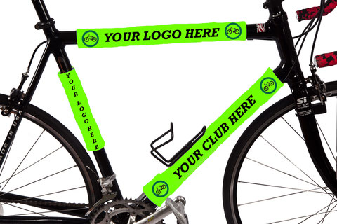 Put your custom logo or name on our BikeWrappers.