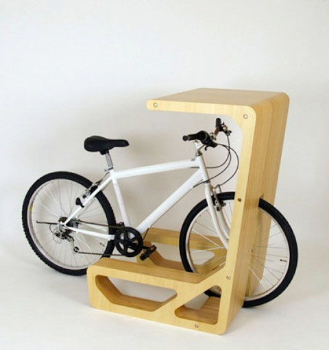 Turn your bike into a standing bike desk.