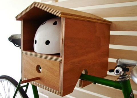 Set your bike up in a bird house.