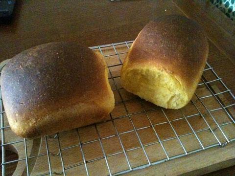 これは最近いつも焼いている人参食パン。離乳食用です。イタリアの食パンは美味しくないからw