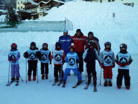 i bimbi della scuola sci 2012