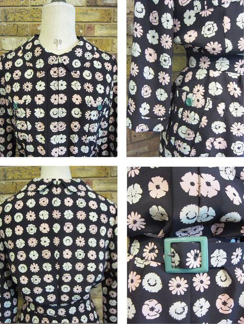 ワンピース¥56700(size36 クロ、他にチャ)machiko jinto london ネックレス¥3360 P.B-Sold out-