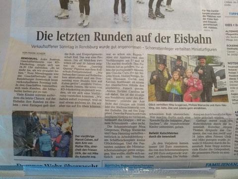 Bericht vom Auftritt der REG Kiel e.V. auf dem Rendsburger Weihnachtsmarkt