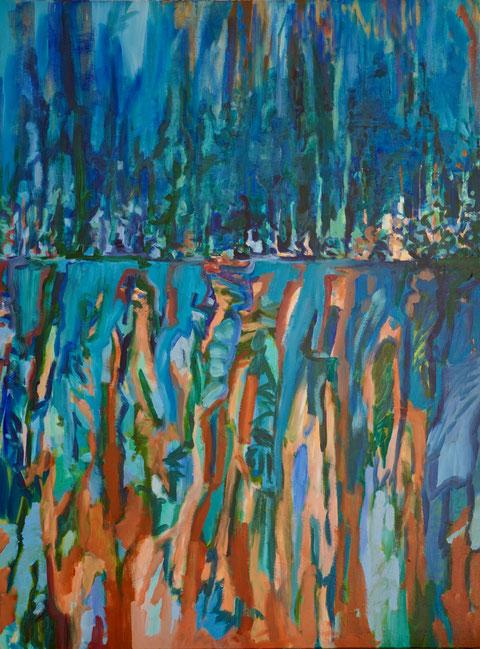O.T, 2019, Acryl auf Leinwand, 160x120