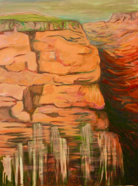Falaise II, 2017 Acryl auf Leinwand 160x120