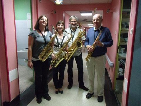 4 de nos musiciens au CHIC