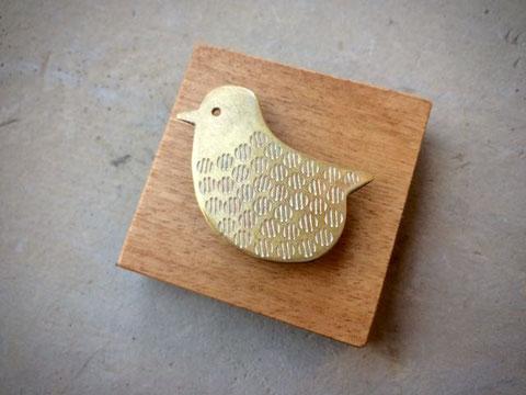 ことり Little Bird Brooch/ Design©︎おばけリンゴ/Obake-Ringo