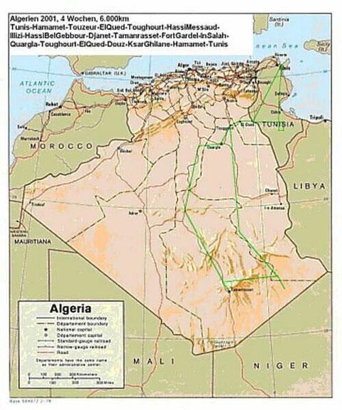 Algerien Reiseverlauf