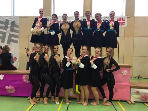 Between (Jugend - TuS Meinerzhagen) - & Rhythmic Show Girls (18+ - TuRa Rüdinghausen) siegen beim Deutschland-Cup