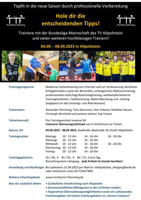 Lehrgang in Großpösna bei Leipzig am 23.+24. und 26.+27.08.21