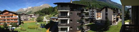 Wohnung 1 und 3, Ausblick vom Ostbalkon