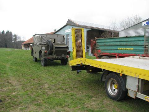 mit Transport-Lkw vor Ort- jetzt Saurer MH4 kommst du mit nach Deutschland