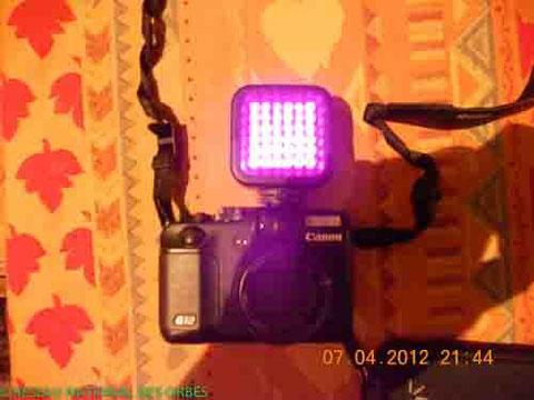 Canon G12 avec projecteur IR - DR