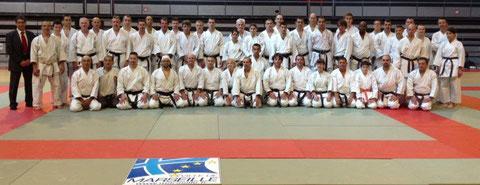 Wadosho karate club au stage bunkai mai 2013 dirigé par Didier LUPO