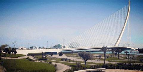 L'Assut d'Or, es un puente que está enclavado en la Ciudad de las Artes y las Ciencias de Valencia.