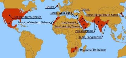 Murs et barrières dans le monde...