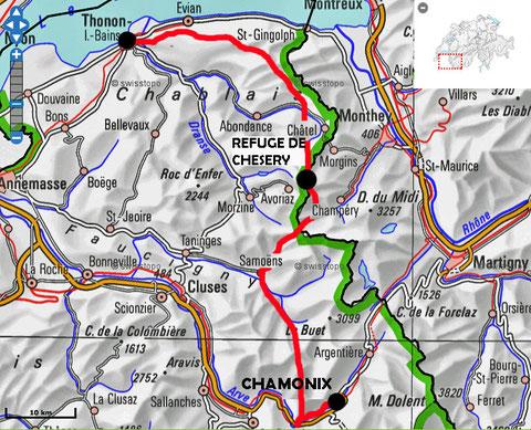 Etape GR 5 Thonon - Chamonix