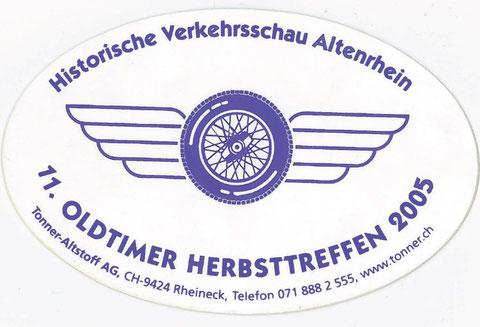 Im 2005 fand das 11. Treffen bereits in Altenrhein statt.