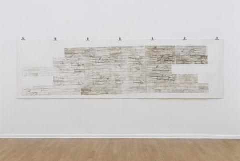 Satzfehler, 2014, 420 cm x 120 cm, Radierung