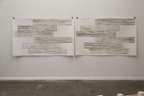 verlegt, 2013, ja 195 x 117 cm, Radierungen
