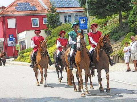 Reiter meldeten das Nahen des Passauer Erbischofs